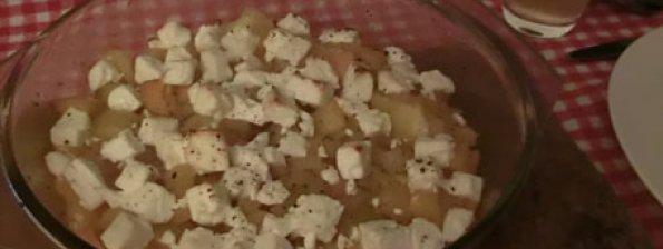 Aardappel met paprika en feta