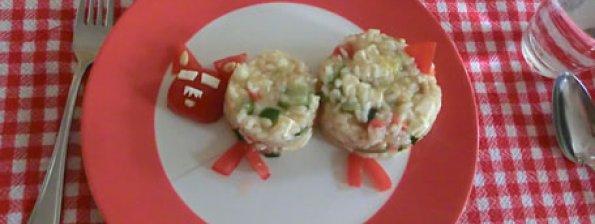 Risotto met courgette, tomaat en feta