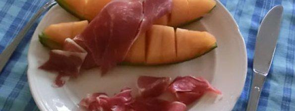 Meloen met seranoham