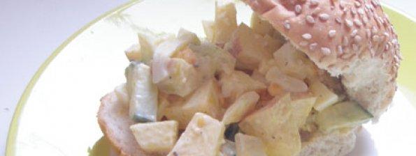 Broodje appel-ui salade