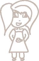 Wearing an apron